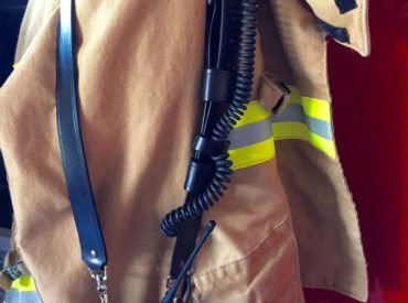 Firefighter-radio-strap