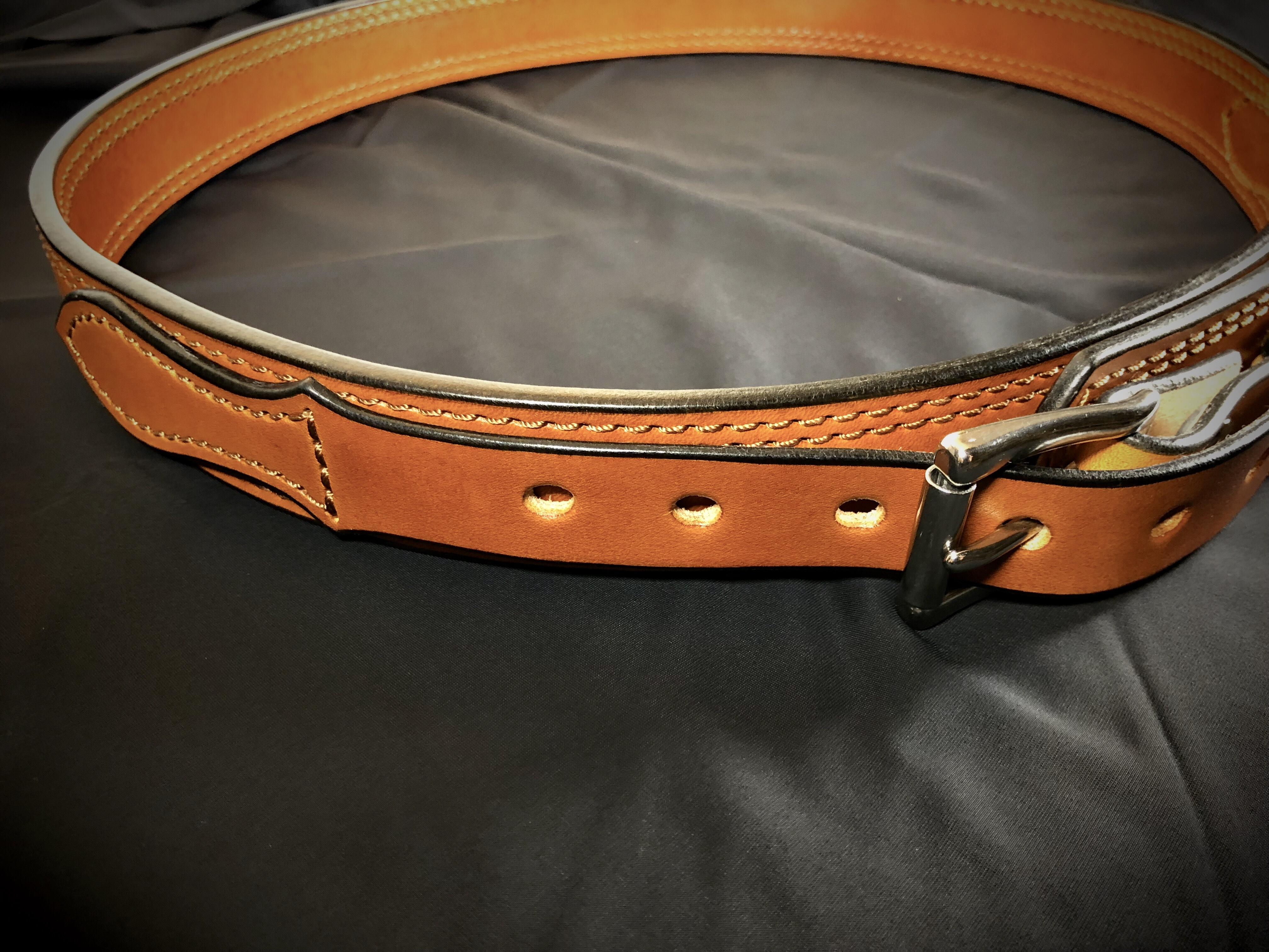 1 5 U2033 Western Ranger Gun Belt  U2013 S  U0026 S Leatherworks